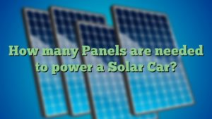 How many Panels are needed to power a Solar Car?
